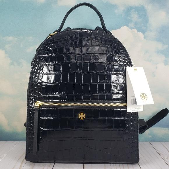 46470ba6f915 Tory Burch Croc Embossed Mini Backpack